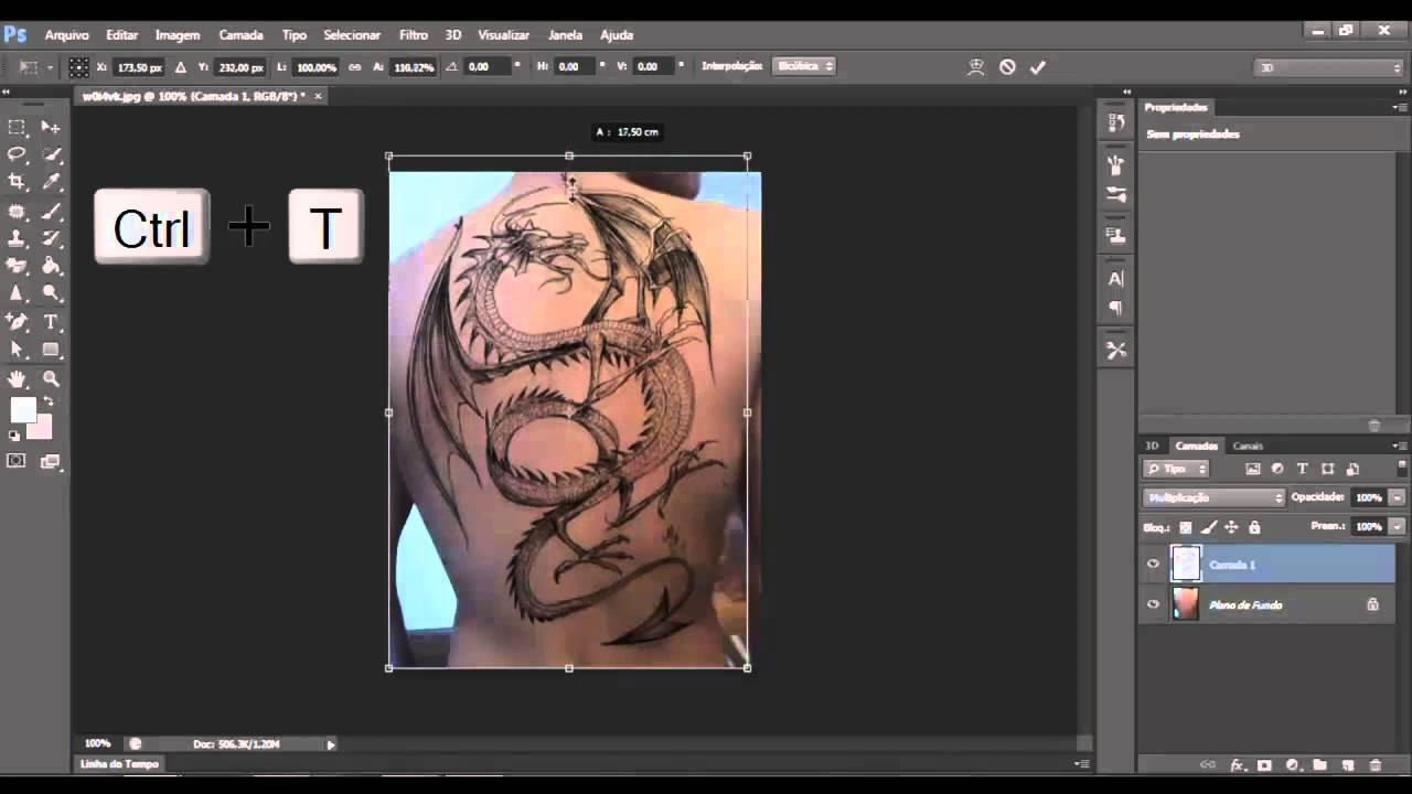 Efeito Tatuagem Com Photoshop Cs6