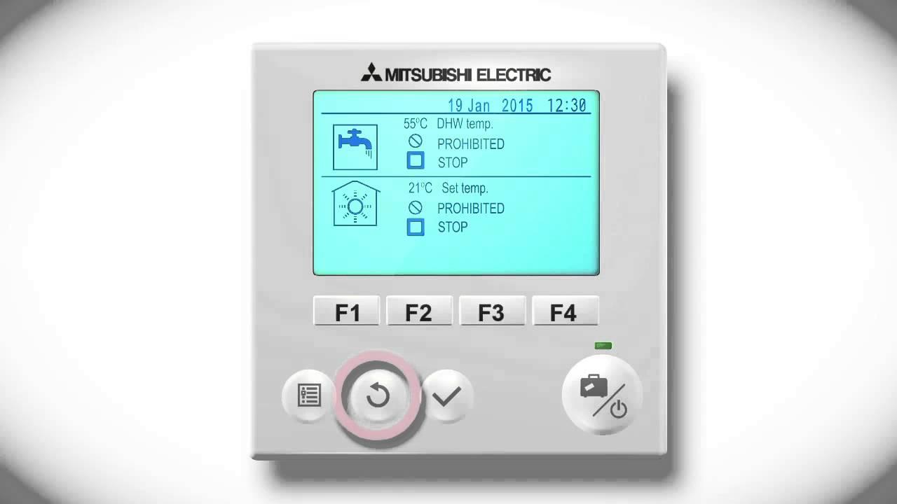 Mitsubishi Electric Ecodan FTC5 - Initial set up - YouTube