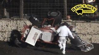 Worst Sprint Car Crash Video Ever - BEST Dirt Track Racing - EPIC!!!
