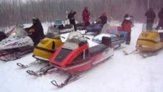 2011 Tamarack, MN vintage snowmobile run