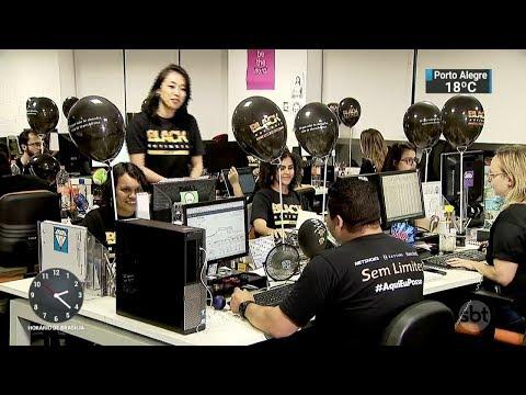 Black Friday deve bater recorde de vendas pela internet | SBT Notícias (24/11/17)