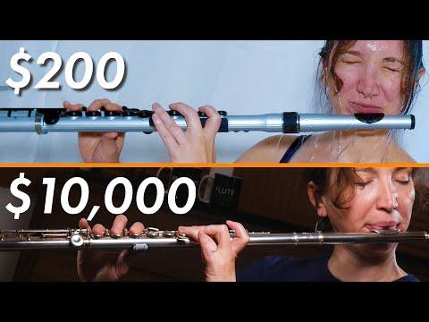 Flute Expert tries $200 PLASTIC Flute VS Her Flute
