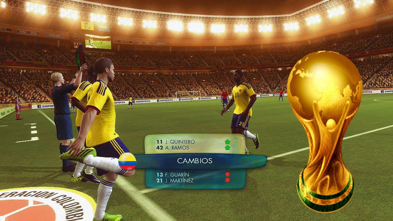 2014 Fifa World Cup  - Colombia Vs Chile - Empieza el Camino Rumbo al Mundial - Gameplay Xbox 360
