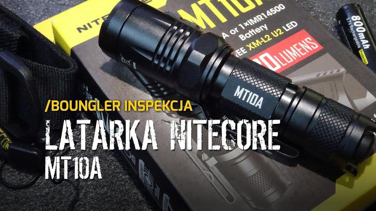 Latarka EDC Nitecore MT10A - Boungler Inspekcja