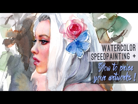 Watercolor Speedpainting + HOW TO PRICE YOUR ARTWORKS