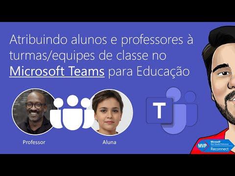 Atribuindo alunos e professores à turmas equipes de classe no Microsoft Teams para Educação