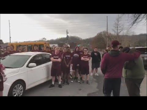 Football Coach Tears Up When Players Surprise Him With New Car