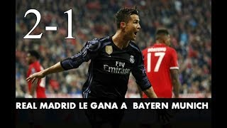 REAL MADRID GANA 2-1  Bayern Munich ANULAN GOL DE Cristiano Ronaldo Bayern Munich Vs Real Madrid