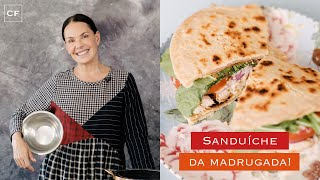 Sanduíche com pão de 2 ingredientes - Na Cozinha com Carolina