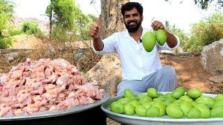 Chicken Biryani With Raw Mangoes   KACHA AAM BIRYANI FOR POOR   Distributing Chicken Biryani To Poor