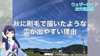 【ウェザーロイドお天気雑学】秋に刷毛で描いたような雲が出やすい理由とは