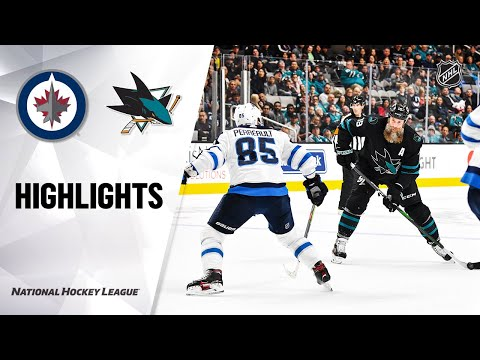 NHL Highlights | Jets @ Sharks 11/01/19