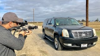 Ravin R10 CrossBow vs Cadillac escalade windshield