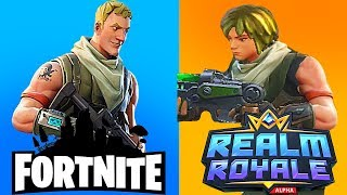 Fortnite Battle Royale VS Realm Royale - Comparison ( WHICH GAME IS BETTER )