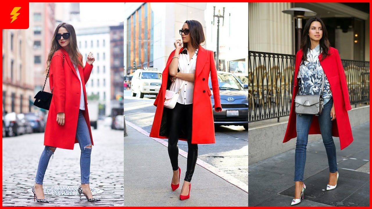 How to Wear Red Coat to Look Stylish - YouTube