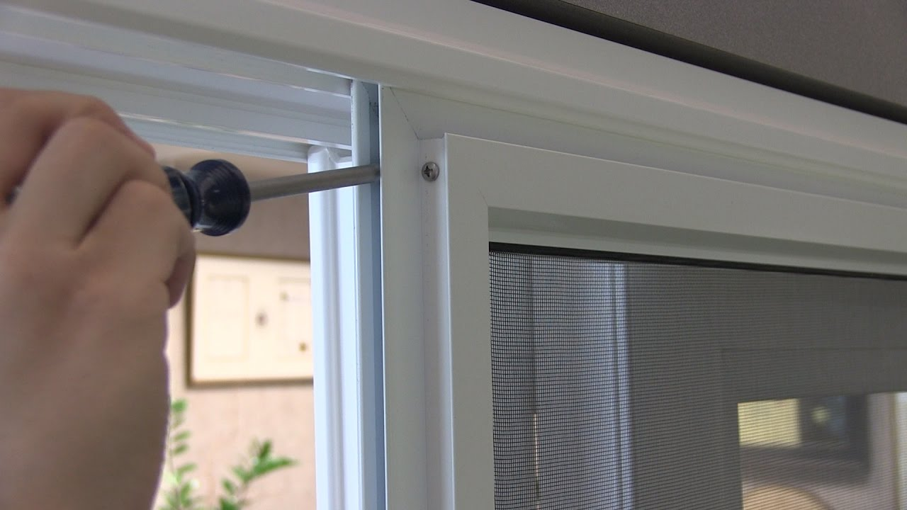 Adjusting The Rollers On Your Anlin Sliding Patio Screen Door Youtube