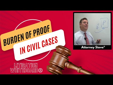 Burdens of proof in a civil lawsuit