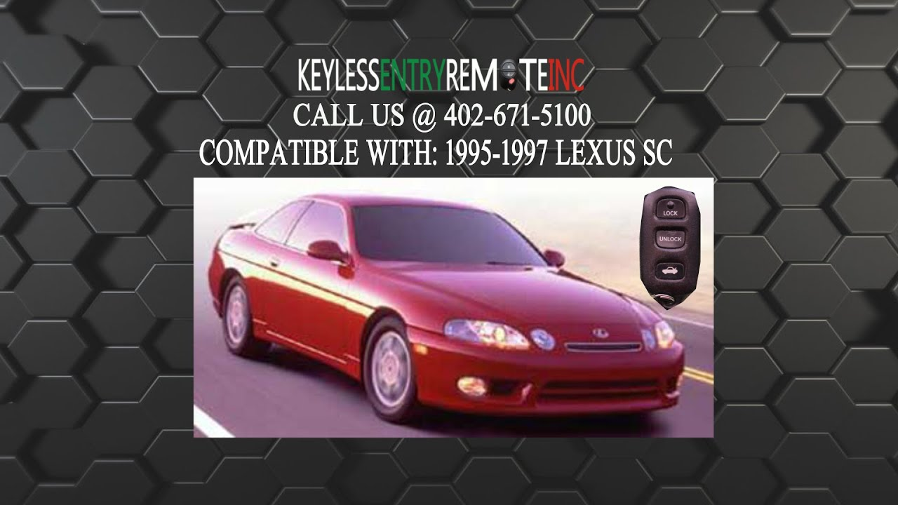 How To Replace Lexus Sc Key Fob Battery 1995 1996 1997 Youtube