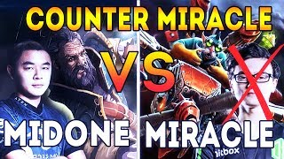 MidOne Know How to Counter Miracle WTF Kunkka Attacker Style Tactic is WORK! Dota 2