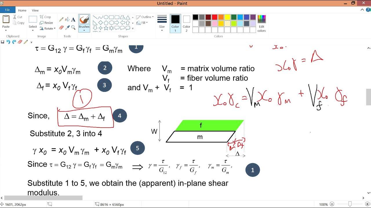 V2 7 Derive Equation Of Shear Modulus G12 Youtube
