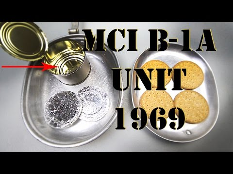 PRISTINE CONDITION MCI B-1A UNIT, CRACKERS, CHOCOLATE DISKS - HD 1080P