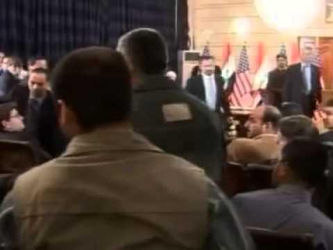 President George Bush - Throwing Shoe Attack 2015