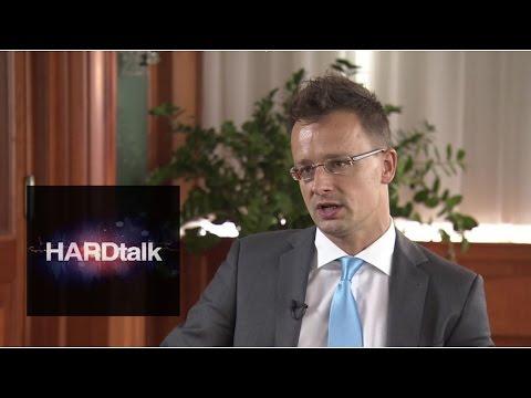 Hungary's FM Peter Szijjarto defends refugee record - BBC HARDtalk