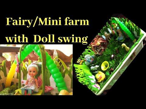 Fairy Mini Farm with Doll Swing.