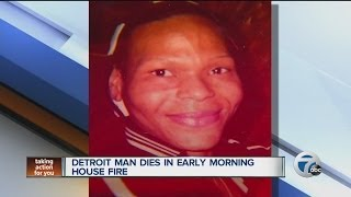 Man Killed In Early Morning House Fire In Detroit.