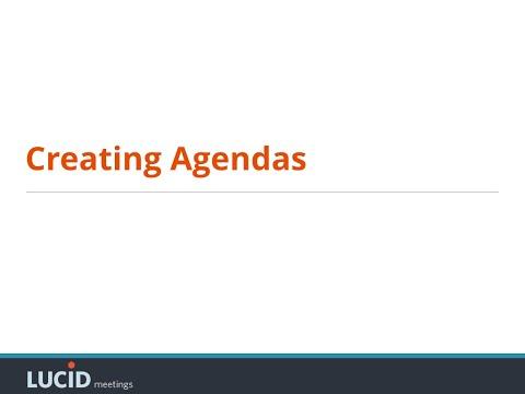Creating Meeting Agendas