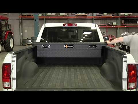 Northern Tool + Equipment Low Profile Aluminum Crossover Truck Box - 60in. X 69in. X 11 3/4in. 13in.