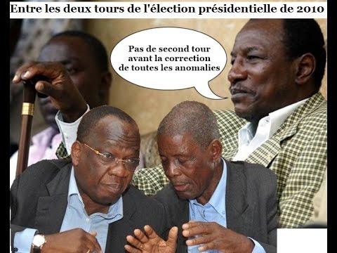 Entre les deux tours de la présidentielle de 2010, Alpha Condé pause ses exigences