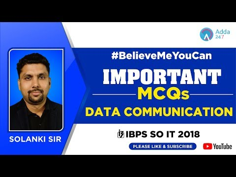 IBPS SO IT | Important MCQ On DATA COMMUNICATION | Solanki Sir | 8:00 PM