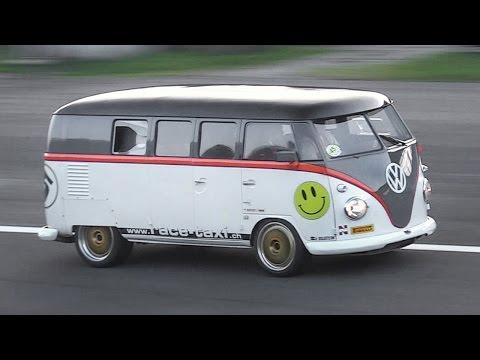 """530hp Porsche 993 Bi-Turbo powered Volkswagen T1 """"Race-Taxi"""" in Action!!"""