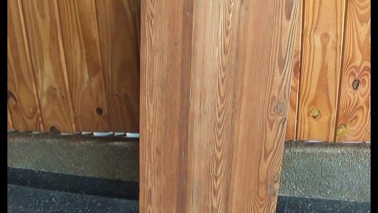 Mesada de madera con madera reciclada youtube for Puertas de madera reciclada