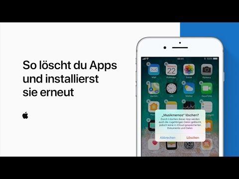 So löschst du Apps und installierst sie erneut — Apple Support