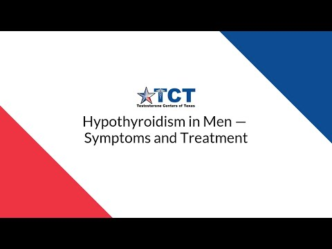 Hypothyroidism in Men — Symptoms and Treatment