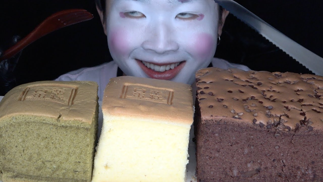 台湾カステラを食べる【咀嚼音/大食い/Mukbang/Eating Sounds/モッパン】
