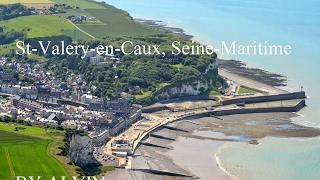 St-Valery-en-Caux vue du ciel, Seine-Maritime