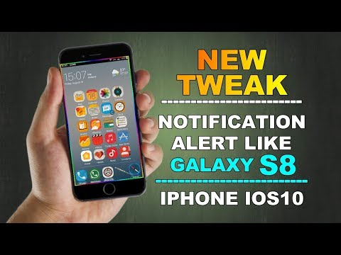 A New Animated Jailbreak Tweak || Brings Galaxy S8-inspired Notification Animations To The iPhone |