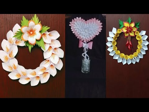 3 EASY And SIMPLE DIY HOME DECORS WITH PAPER | PAPER WREATH TUTORIAL | PARTY TABLE DECOR