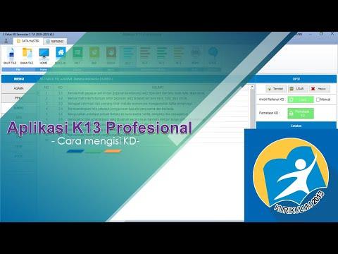 Tutorial Aplikasi K13 Profesional - Cara Mengisi KD (Kompetensi Dasar)