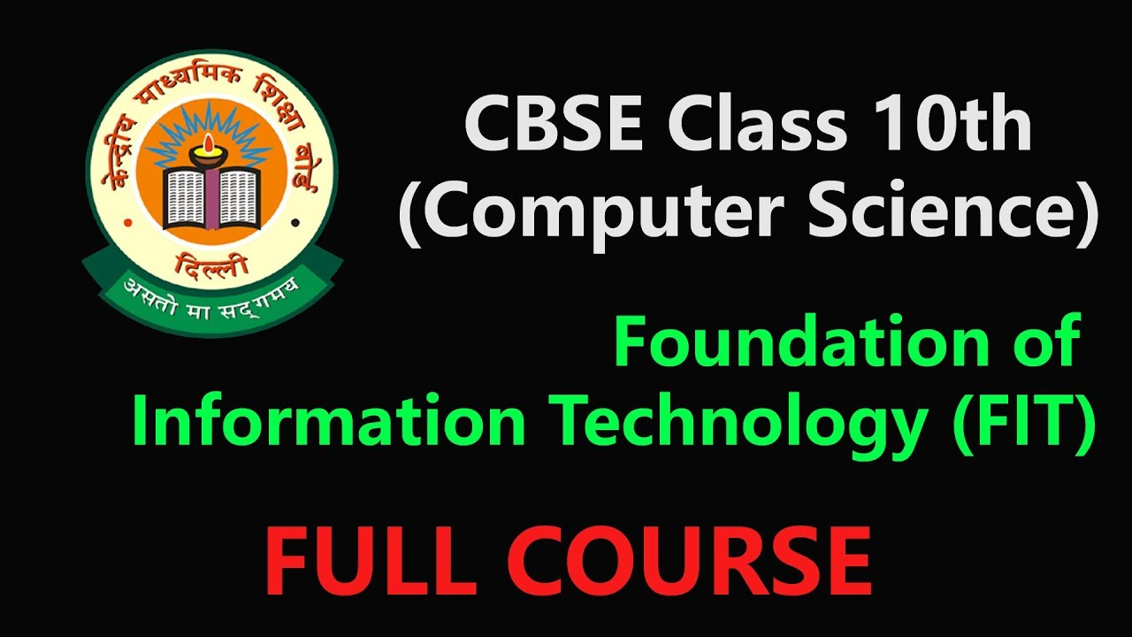 Information Technology Book For Class 10 Cbse