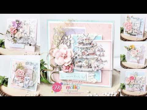 Make 6 Easy & Quick Shabby Chic cards | Mudra Stamps GDT | Aola DIY