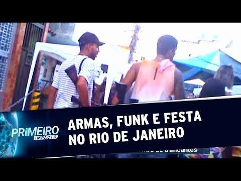 Traficantes dançam com fuzis em baile funk do Rio  Primeiro Impacto 130919