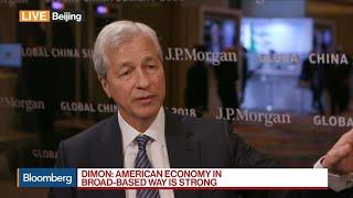 Dimon on U.S. Economy, China's Bond Market, Cybersecurity