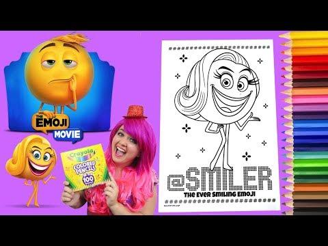 Coloring Emoji Smiler The Emoji Movie Coloring Book Colored Pencil Prismacolor   KiMMi THE CLOWN