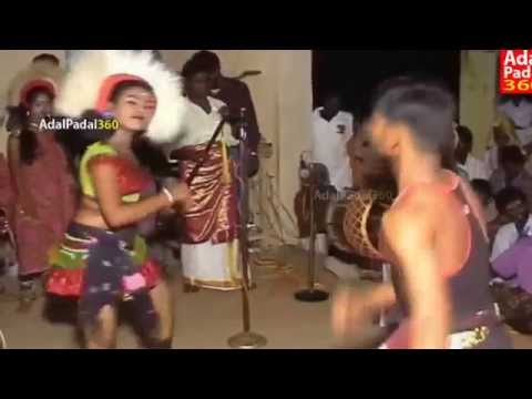 latest hot Karakattam Double Meaning Dialogues Dance Tamil Adal Padal hot dance sexy talk