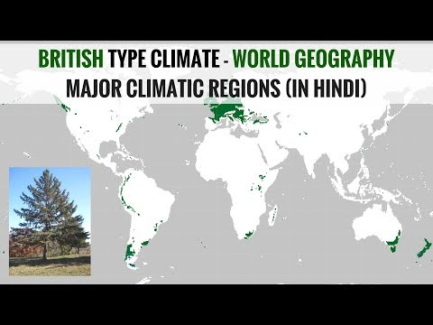 British Type Climate Region - World Geography Major Climatic Regions (in Hindi)