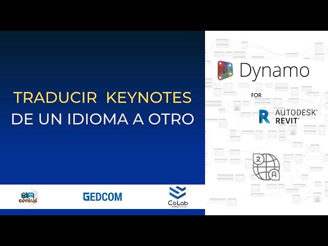 Traducción de Keynotes en Revit con Dynamo | Demostración
